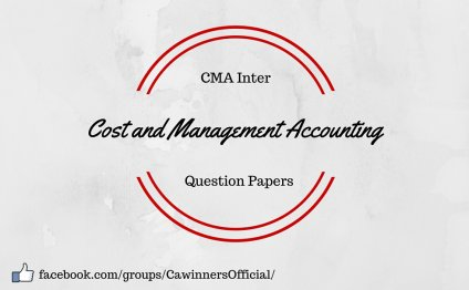 CMA Inter Cost and Management