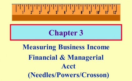 1 Chapter 3 Measuring Business