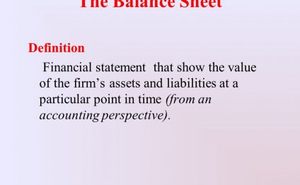 The Balance Sheet Definition