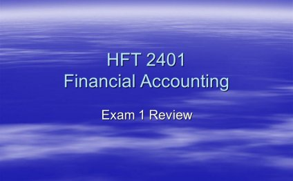 HFT 2401 Financial Accounting
