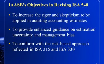 To be applied in auditing