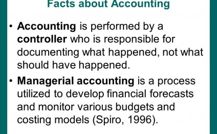 Facts about Accounting