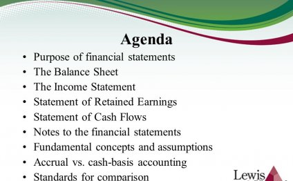 Agenda Purpose of financial