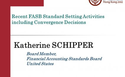 Recent FASB Standard Setting