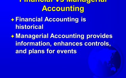 Financial Vs Managerial