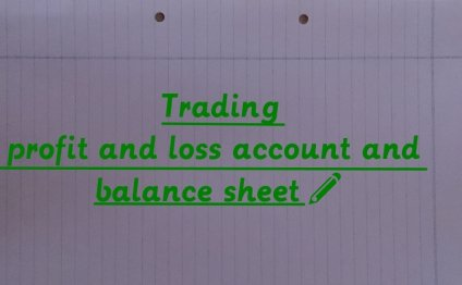 Trading profit and loss