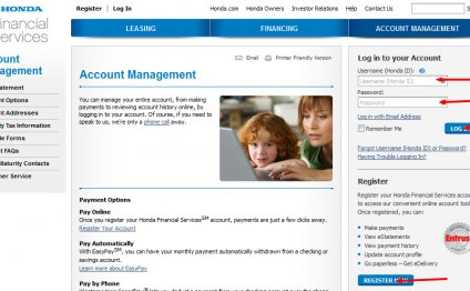 Honda Financial Services account number