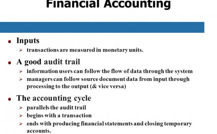 Accounting Audit trail