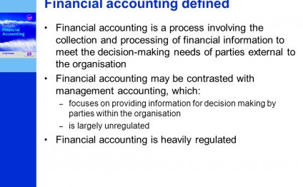 Defined Financial Accounting