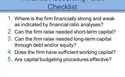 Accounting Audit Checklist
