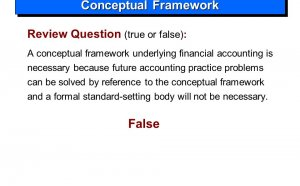 Financial Accounting practice questions