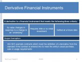 Accounting for Financial instruments and derivatives