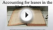 Accounting for leases in the United States