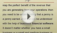 Business Financial Software -- Why is it Important for a