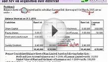 CA Final Accounts, Financial Reporting - Consolidated