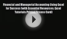 Download Financial and Managerial Accounting Using Excel