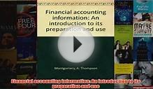 Download PDF Financial accounting information An