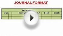 Financial Accounting Journal Format