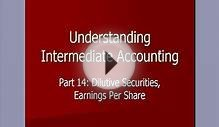 Intermediate Accounting14/ Dilutive Securities
