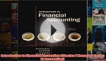 Introduction to Financial Accounting Charles T Horngren
