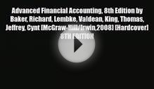 [PDF Download] Advanced Financial Accounting 8th Edition