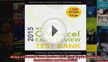 Wiley CPAexcel Exam Review 2015 Test Bank Financial